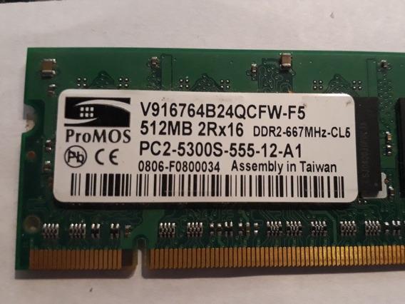 Memoria Ram Ddr2 667 Promos 512mb V916764b24qcfw-f5