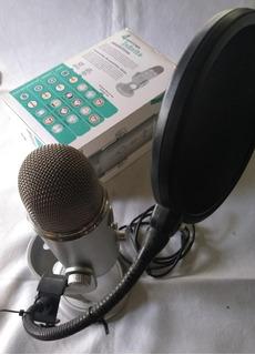 Microfono Blue Yeti Usb Profesional + Antipop En La Plata
