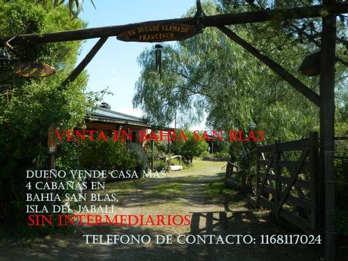Bahía San Blas- Dueño Vende Casa Y Cabañas En Bahía San Blas