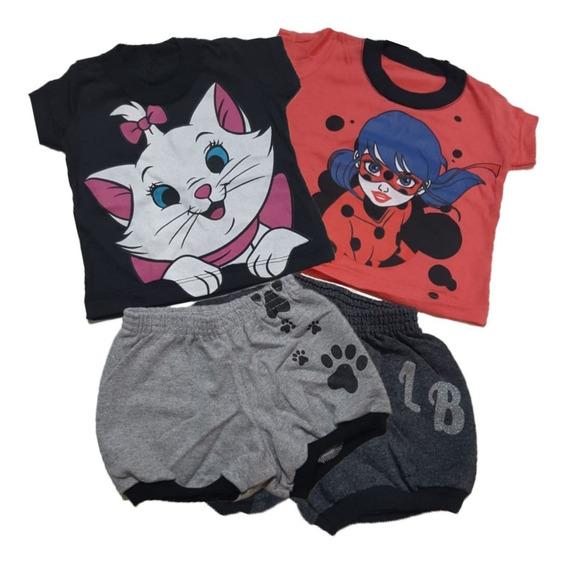 3 Conjunto Infantil Menina Roupas Infantil Desenhos