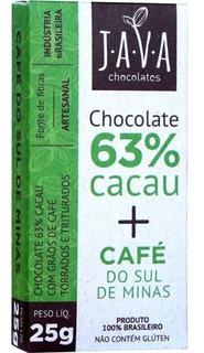 Chocolate 63% Cacau + Café Do Sul De Minas - Java Chocolates