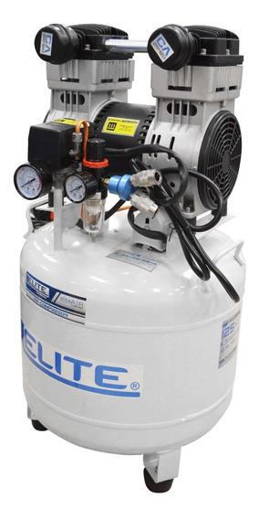 Compresor Elite 2.5 Hp Tanque 40l125psi 1800rpm Silencioso