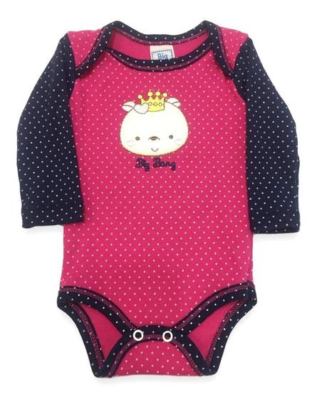 Body Bebê Menina Bordado Manga Longa Ótima Qualidade Frio