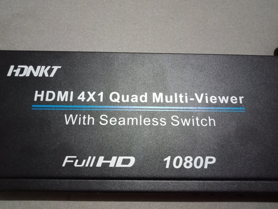 Switcher Hdmi Seamless Chaveador 4x1 Live