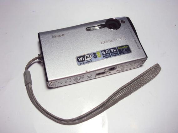 Camera Digital Nikon Coolpix S6 Original - Com Defeito