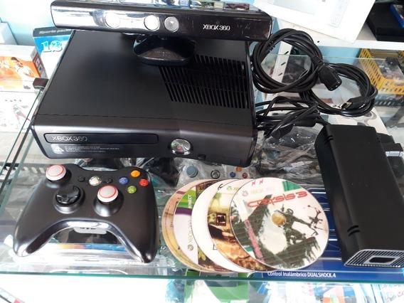 Xbox 360 Slim 4gb Desbloqueado Ltu 3.0 Com Jogos