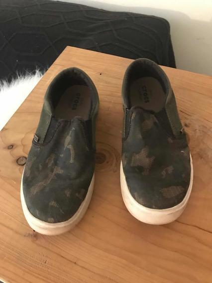 Panchitas Crocs Originales. Camufladas 23cm