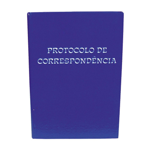 Livro Protocolo Correspondência 100 Folhas 1/4 Tamoio 2025