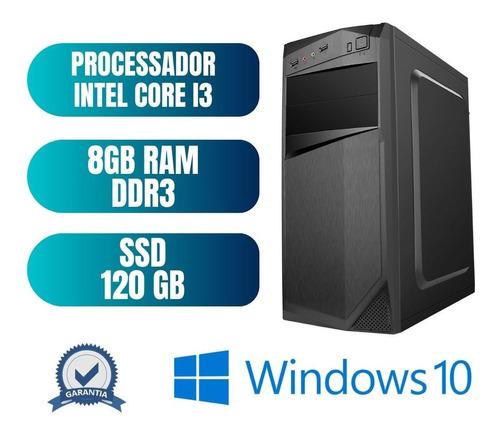 Cpu Desktop Computador Pc Core I3 8gb Ram 120gb Win10 Oem
