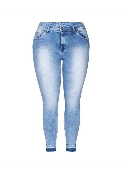 Kit 2 Calça Jeans Feminina Cintura Plus Size Atacado C Lycra