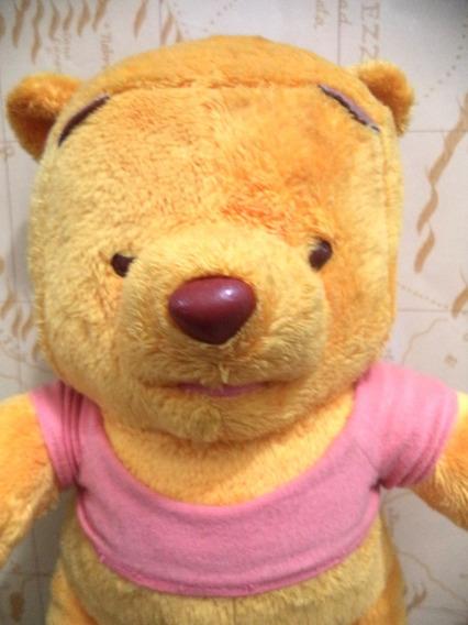 Ursinho De Pelucia Pooh Disney Long Jump Antigo Usado