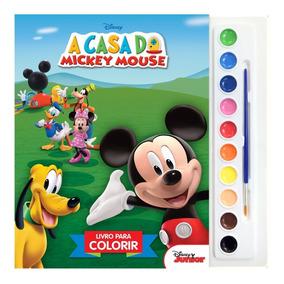 Livro Coleção Para Colorir Aquarela Disney - Mickey Mouse