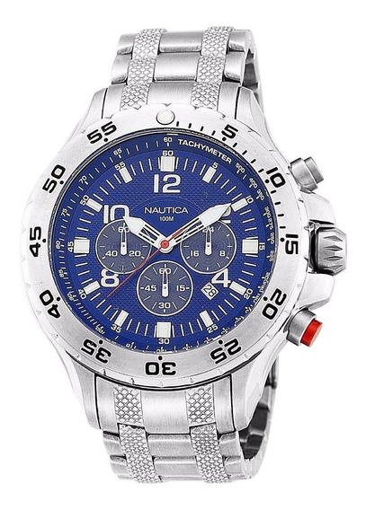 Relógio Nautica Azul Chronograph N19509g