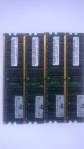 Memória Samsung 16gb(4x4gb) 2rx4 Pc2 5300p Servidores