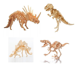 Rompecabezas 3d Dinosaurios Puzzle Madera Niños