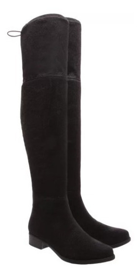 Bota Anacapri Over The Knee Lurex Preta