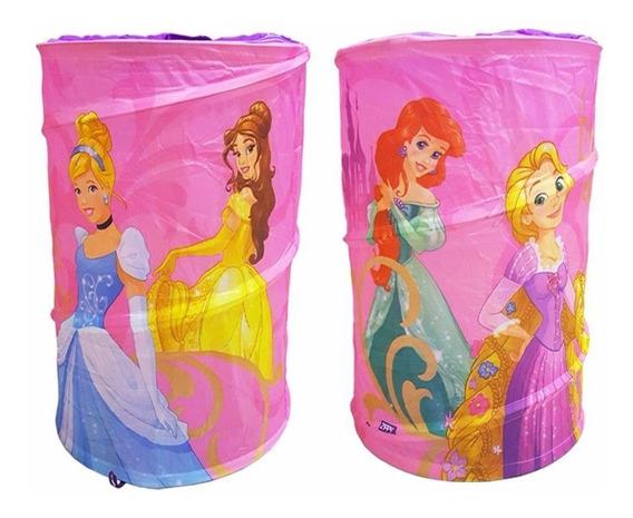 Porta Brinquedos Objetos Infantil Princesas Meninas