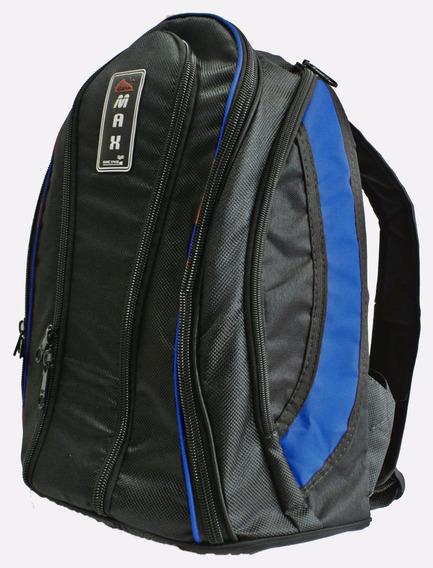 Mochila Bolsa Azul Impermeável Porta Notebook Reforçada