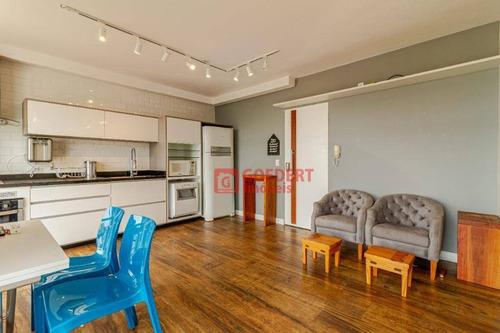 Apartamento Studio Mobiliado Com 1 Dormitório Para Alugar, 38 M² Por R$ 1.900/mês - Vila Augusta - Guarulhos/sp - St0038