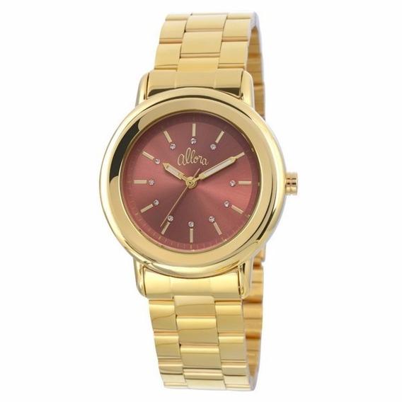 Relógio Allora Feminino Analógico Dourado - Al2035eyk/4m