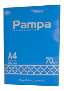 Resmas A4 Pampa 70gr Caja X 10 Envio Gratis X 20