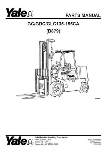 Manual Pecas Empilhadeira Yale Gc/gdc/glc135-155 ** Pg428