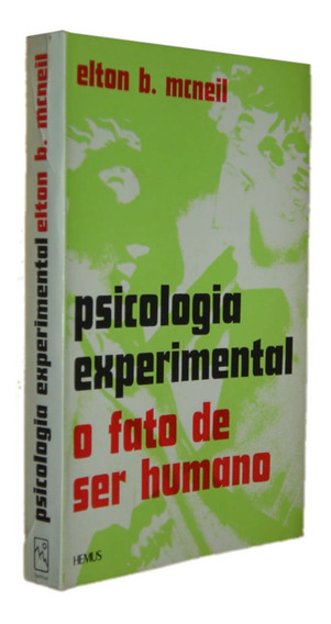 O Fato De Ser Humano Psicologia Experimental Elton Livro /