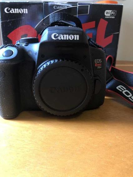 Câmera Canon Eos Rebel T6i Original Perfeita