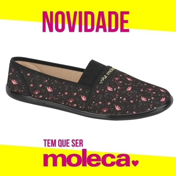 Sapatilha Feminina Moleca Conforto Marinho 520059 Original