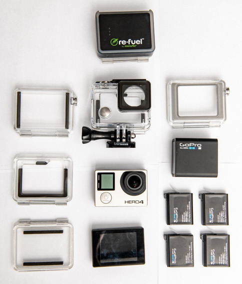 Kit Gopro Hero 4 Black + Tela + 5 Baterias E Carregador