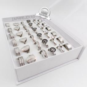 Caja X36 Anillos Acero Quirurgico Surtidos Premium N1 Xmayor