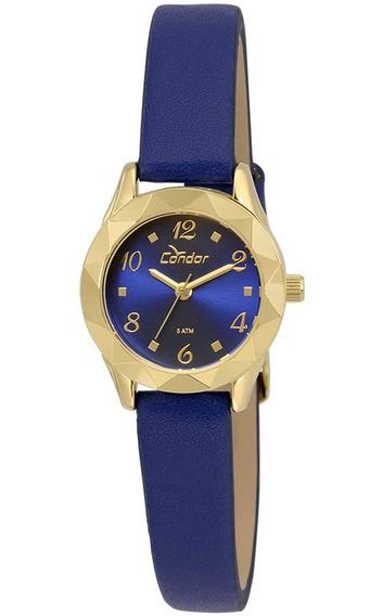 Kit De Relógio Condor Feminino Co2035kre/k2a Azul