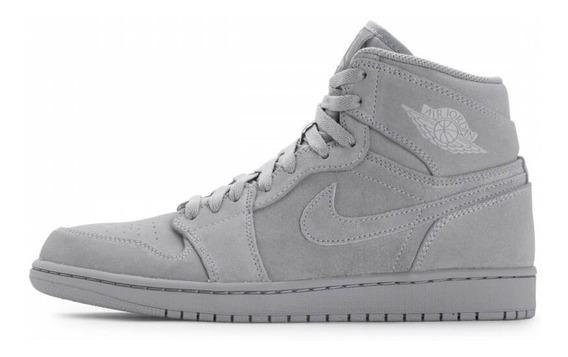 Zapatillas Nike Air Jordan Retro 1 High Grey Suede Wolf Grey