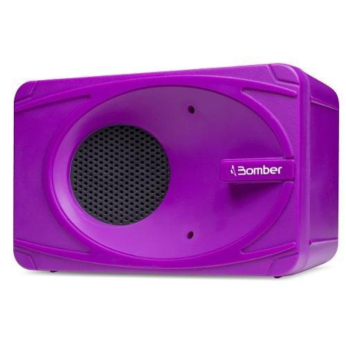Mini Caixa De Som Bluetooth Portátil Bomber Rosa 5w Rms