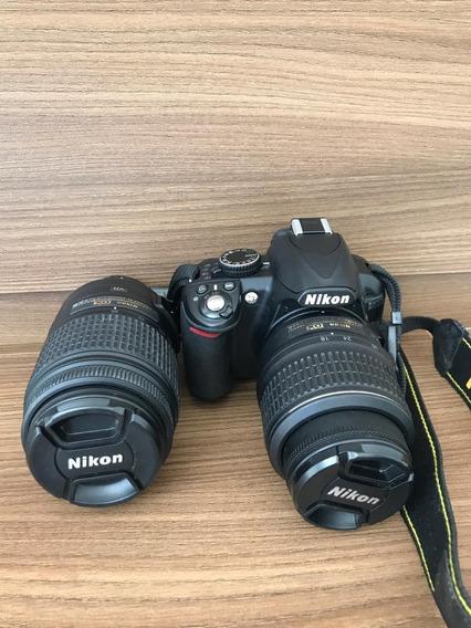 Câmera Nikon D3100 2 Lentes + Bolsa