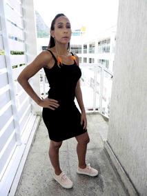 Vestido Feminino Alcinha Canelado Colado Midi Verão Justo