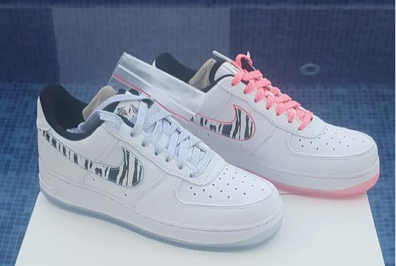 Nike Air Force 1 Low White Tiger South Korea Tamanho 38br