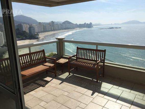 Guarujá Frente Mar Cobertura Duplex 4 Suítes 3 Vgs Demarcadas - V397779