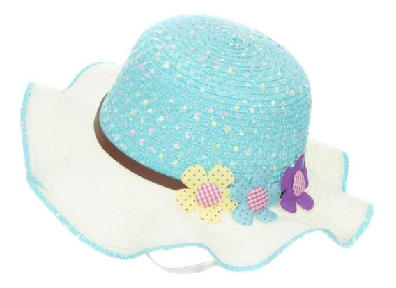 Sombrero De Playa Sol Para Niña Flexible Spn 223-007