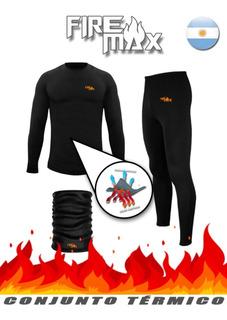 Conjunto Termico Camiseta, Pantalon Y Cuello Moto Pesca Caza