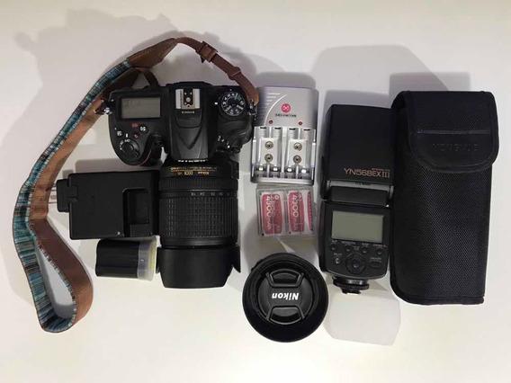 Nikon D7200 18-140 35 1.8 Sd 32gb Flash Troco Sony A6400