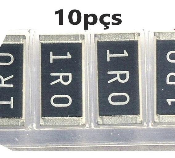 Resistor 1r0 1r 1w 5% - 1 Ohm Smd 2512 - Pct 10pçs Frete Cr