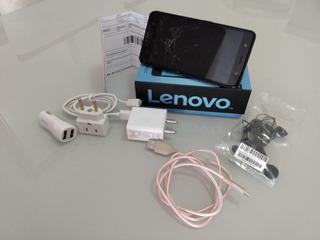 Celular Lenovo K8 Plus 32gb Tela Trincada 5meses De Garantia