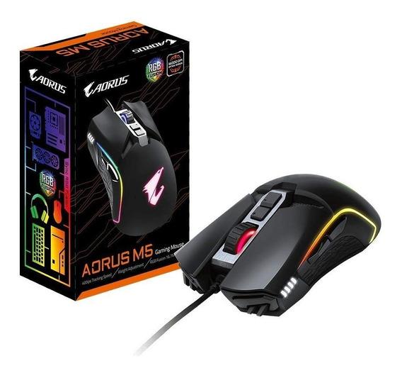 Mouse Gamer Aorus M5, Rgb, 7 Botões, 16000dpi