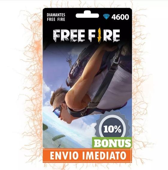 Free Fire 4.600 Diamantes +460bônus (5060) Recarga P/conta