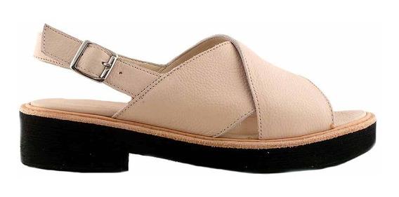 Sandalia Cuero Mujer Briganti Zapato Goma Mcsd04472