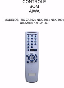 Controle Remoto Som Aiwa Nsx T96 Nsxt99 Xh A1000 Xh A1060
