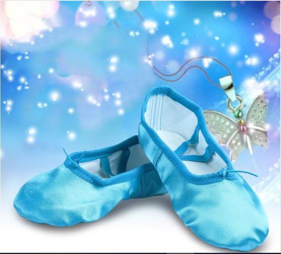 Zapatos Zapatillas Danza Ballet Jazz Celeste Turquesa