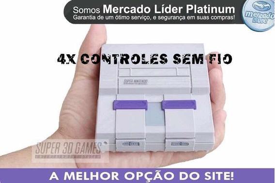 Console Retro Super Nintendo 8 Mil Jogos 4 Controles Sem Fio