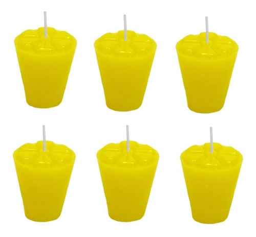 12 Velas Refil Copinho Arandela Mandala Castiçal Citronela